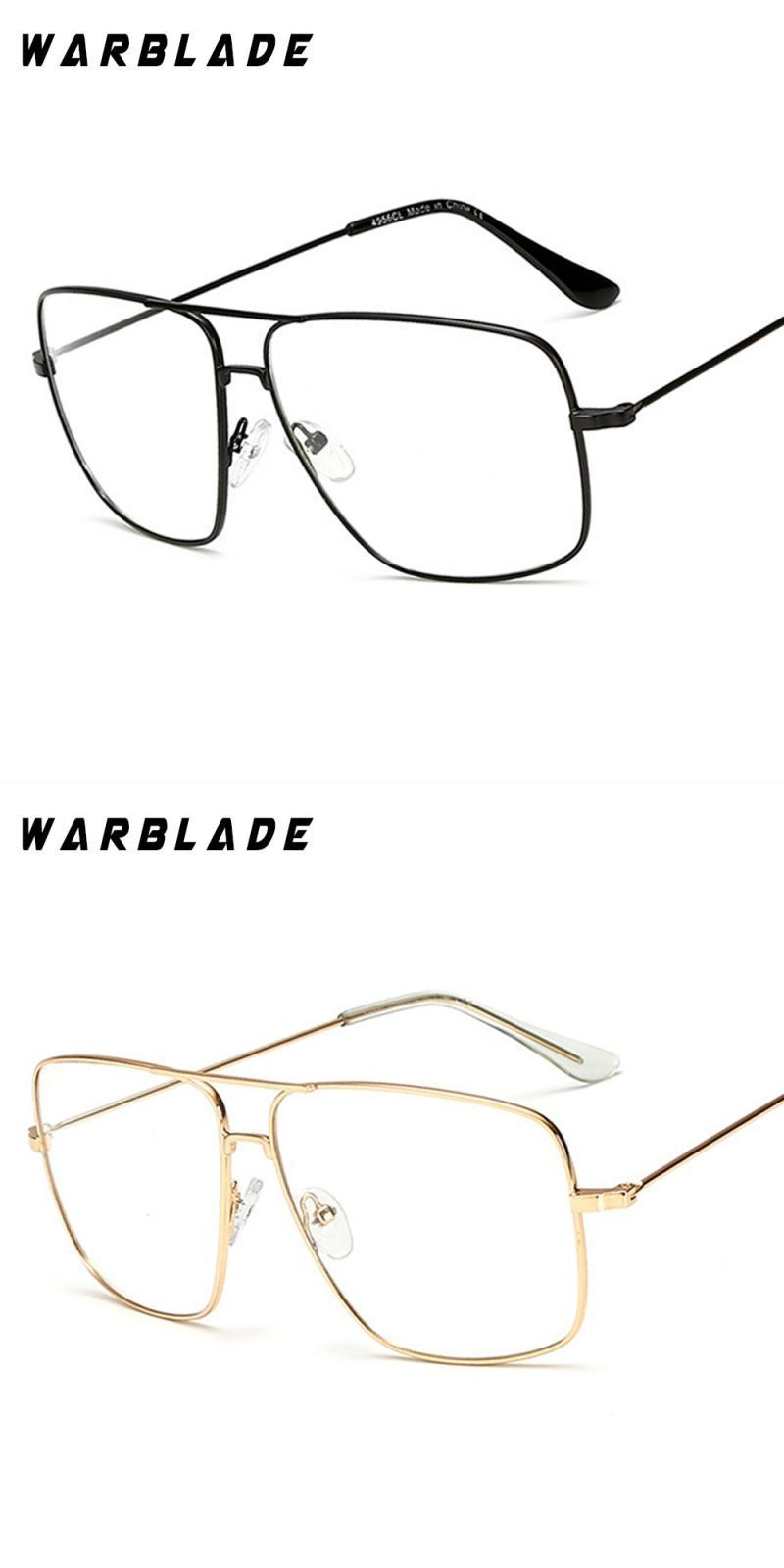 a3973c1e73dd 2018 lightweight and elegant retro classic metal frame glasses myopia eyeglasses  women men square clear glasses