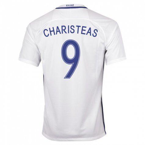 134df0c4 Greece Jerseys 2016/17 Home Soccer Shirt #9 Charisteas | 2016-17 ...