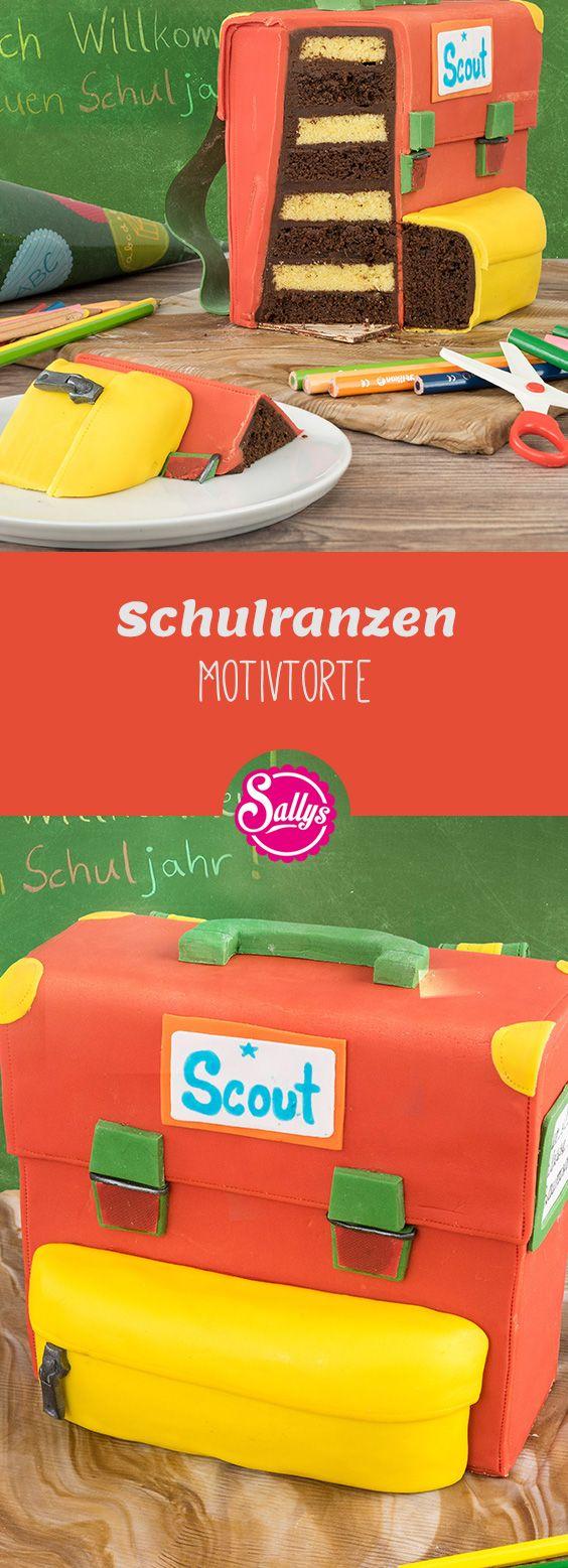 Motivtorte mit Vanille und Schokoladengeschmack im SchulranzenLook  Motivtorten  Fondant Cakes