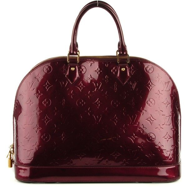 2eb74bcd2464 LOUIS VUITTON Vernis Alma GM Rouge Fauviste featuring polyvore women s  fashion bags handbags tote bags hand bags purse tote patent leather tote  louis ...