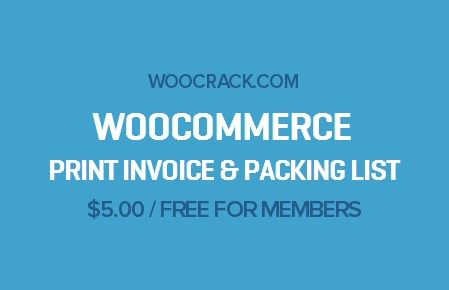 Download WooCommerce Print Invoice \ Packing List v316 Download - free invoices to print