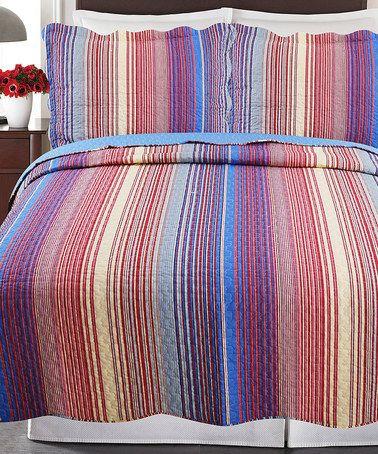 Look at this #zulilyfind! Carter Reversible Quilt Set #zulilyfinds