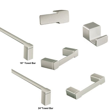 View The Moen 90 Degree Accessories Bundle 1 With Double Post Toilet Paper Holder With Towel Bar