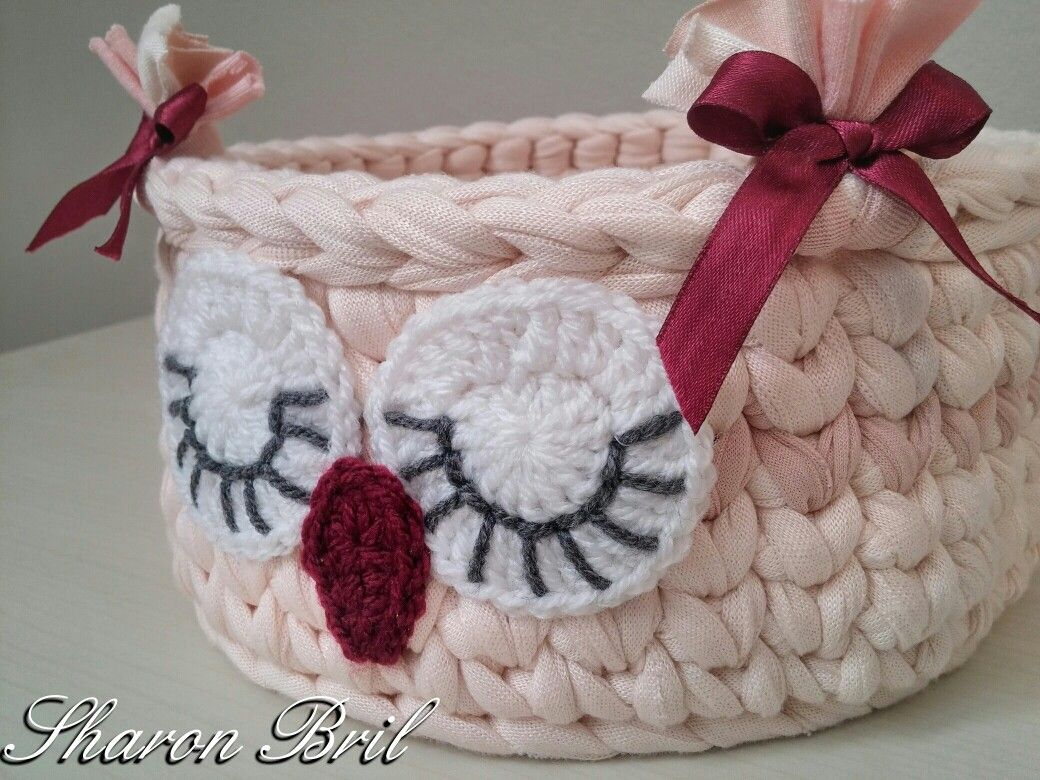 Crochet owl basket my works pinterest crochet crochet crochet owl basket bankloansurffo Images