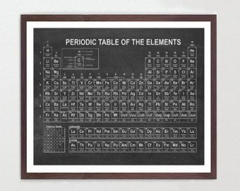 Periodic Table Of Elements Science Poster Chemistry By DavesOffice