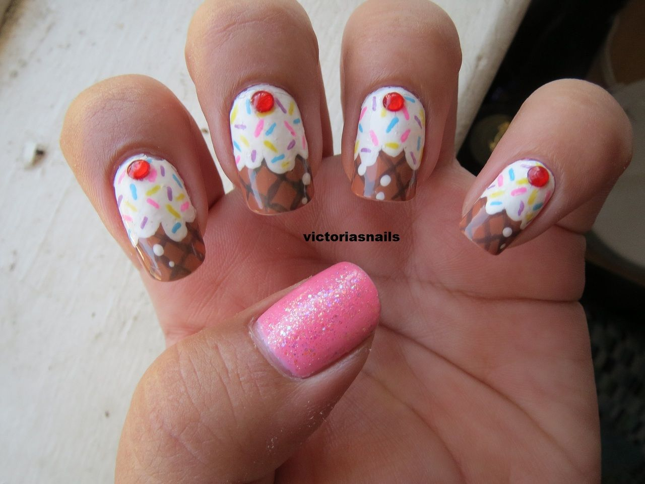 Ice cream nails for my friends candyland birthday party idk if ice cream nails for my friends candyland birthday party idk if they look much like prinsesfo Choice Image