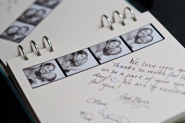 """originally for wedding probably, but what about having a """"guest book"""" for your guest bedroom at home?"""