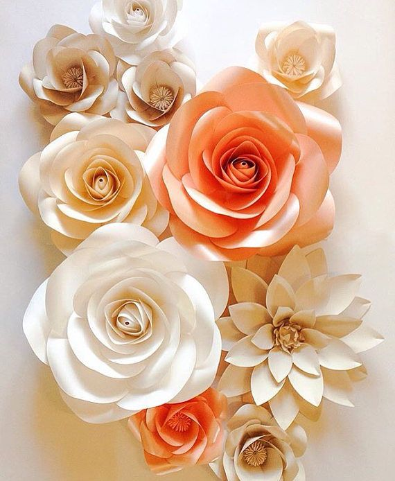 Large paper flowers wedding paper flowers paper flower coffe large paper flowers wedding paper flowers paper flower mightylinksfo Images