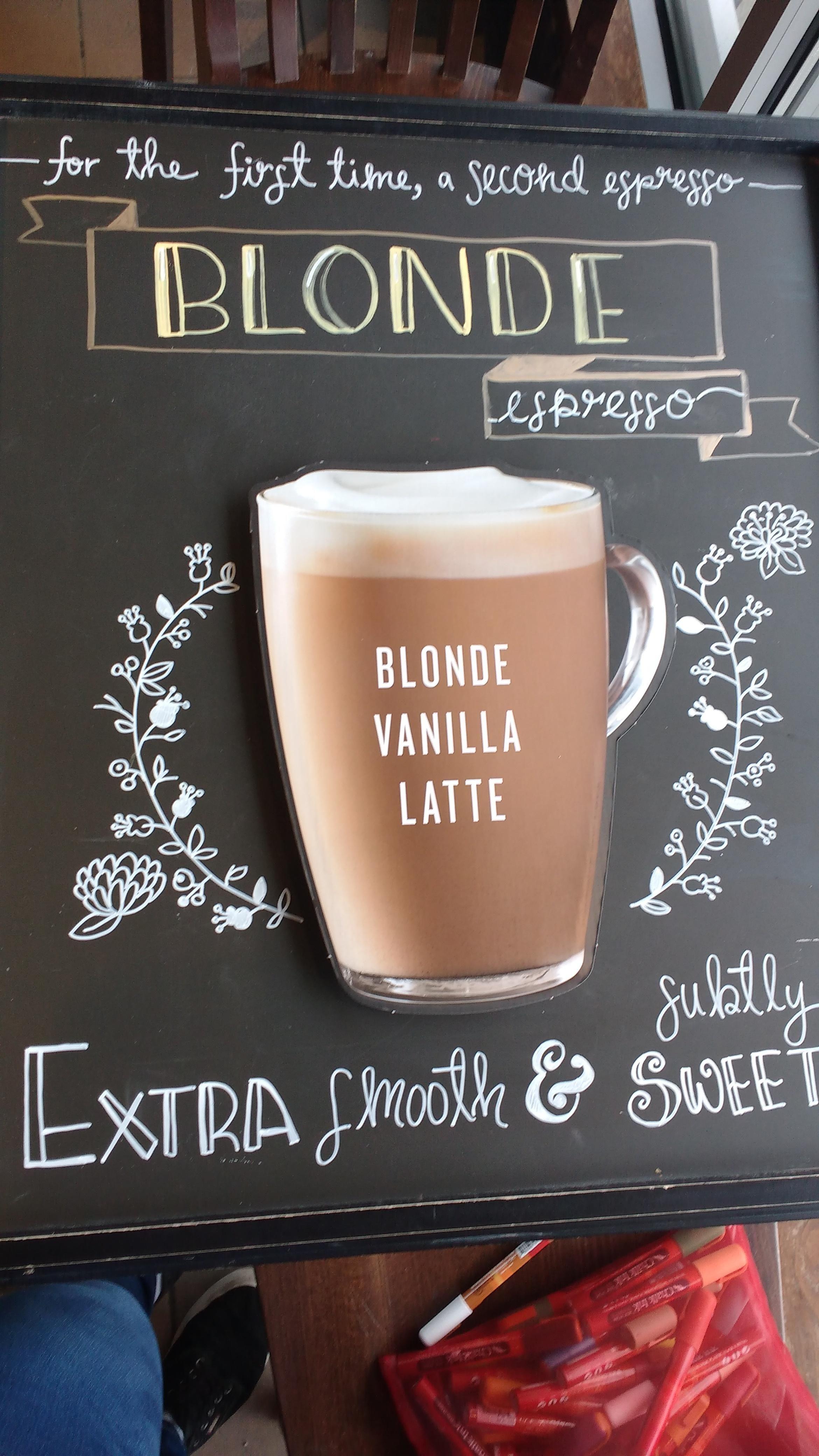 I redid our blonde espresso sign 0 starbucks coffee