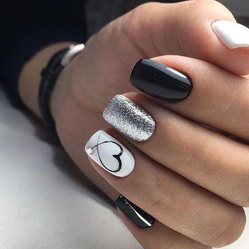 STOP – 46 Beautiful Valentine's Nails # NailsGelnails STOP – 46 Beautiful Valentine's Nails – FavNailArt.com