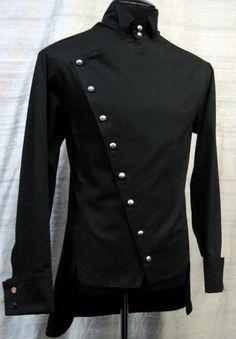 Black steampunk jacket