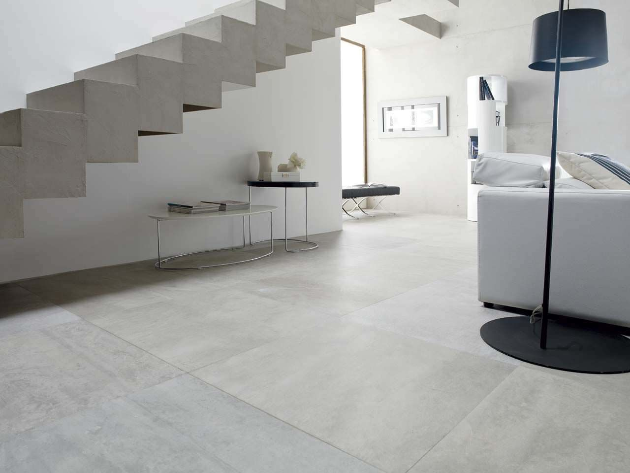 Carrelage de sol en gr s c rame poli aspect pierre for Porcelanosa catalogue carrelage