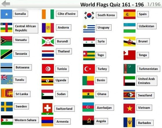 Logo Quiz World Flags Bubble With Names Of Countries