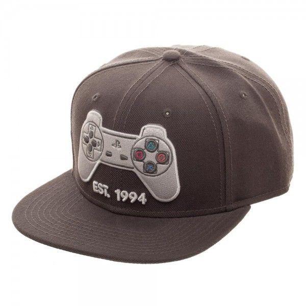 Classic Playstation Controller Snapback Hat Sony Official PS1 PS Logo   Bioworld  SnapbackBaseballCap b5c511821c4e