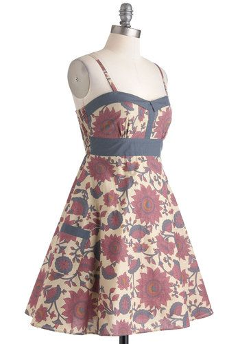 Flower Gathering Dress in City, #ModCloth