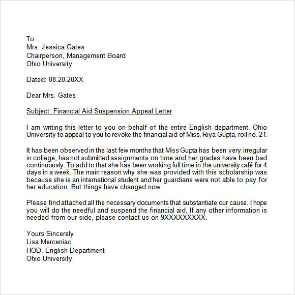 Academic Appeal Letter Appeal Letter Format  Template  Pinterest  Template