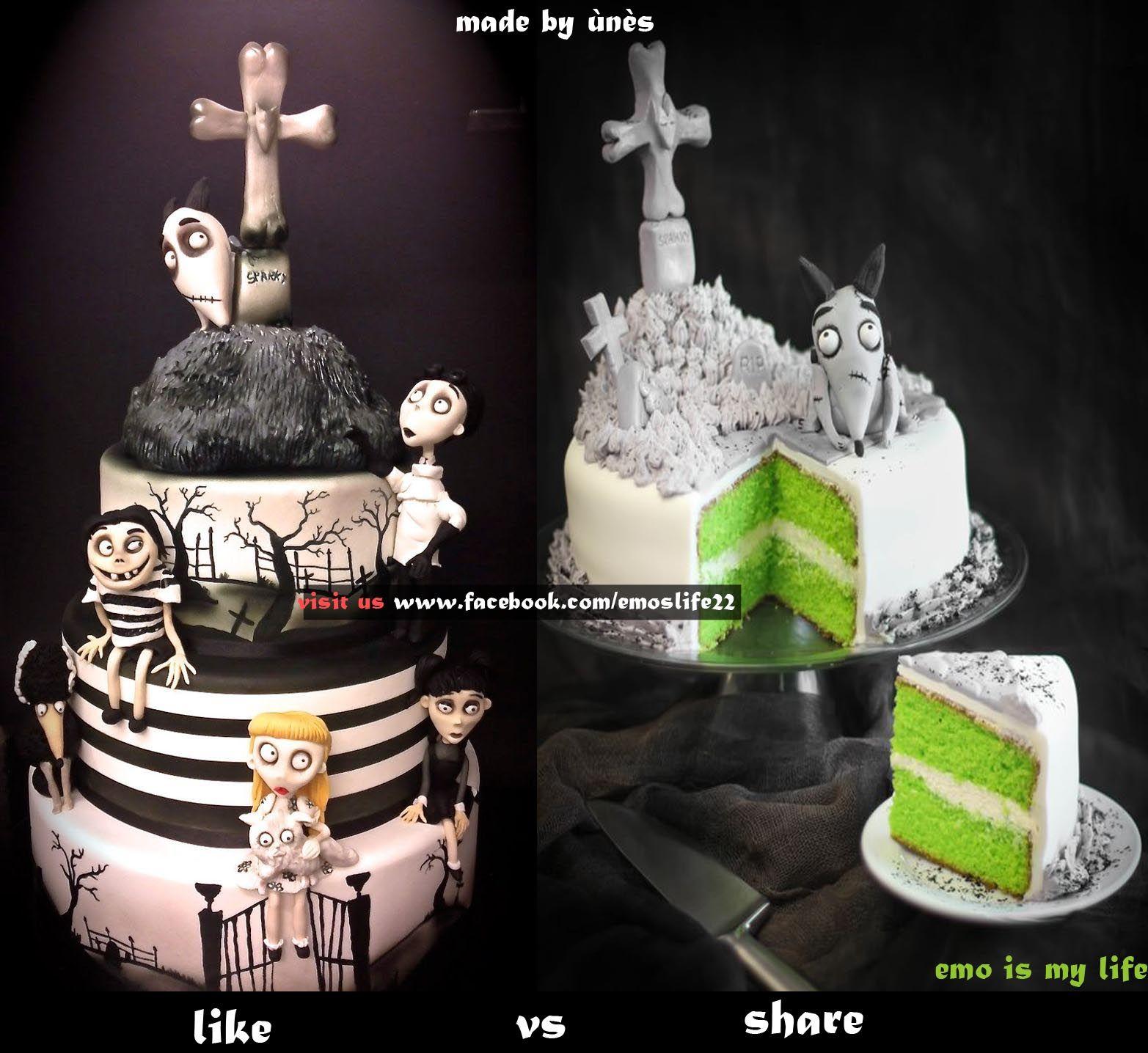 eMo cake mmm Pinterest Emo style Cake and Birthday cakes