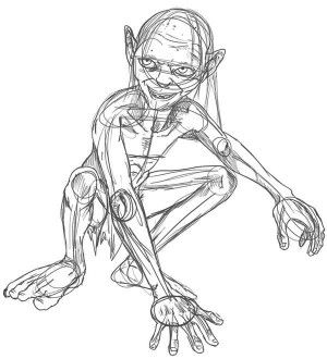 The Lord Of The Rings Character Gollum Coloring Page Animal Kingdom Colouring Book Enchanted Forest Coloring Book Coloring Pages