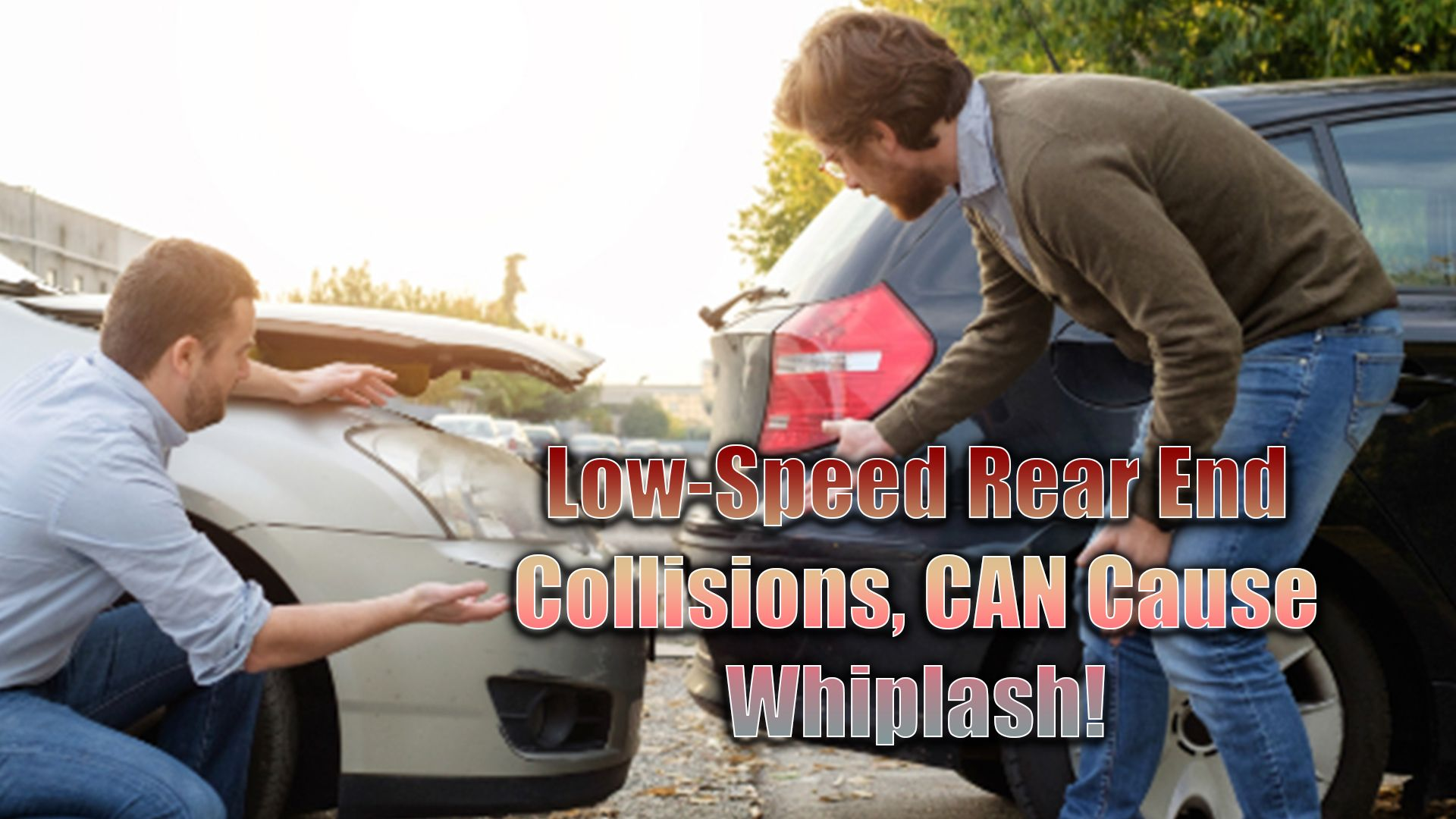 A lowspeed collision happens, you shrug it off. The car