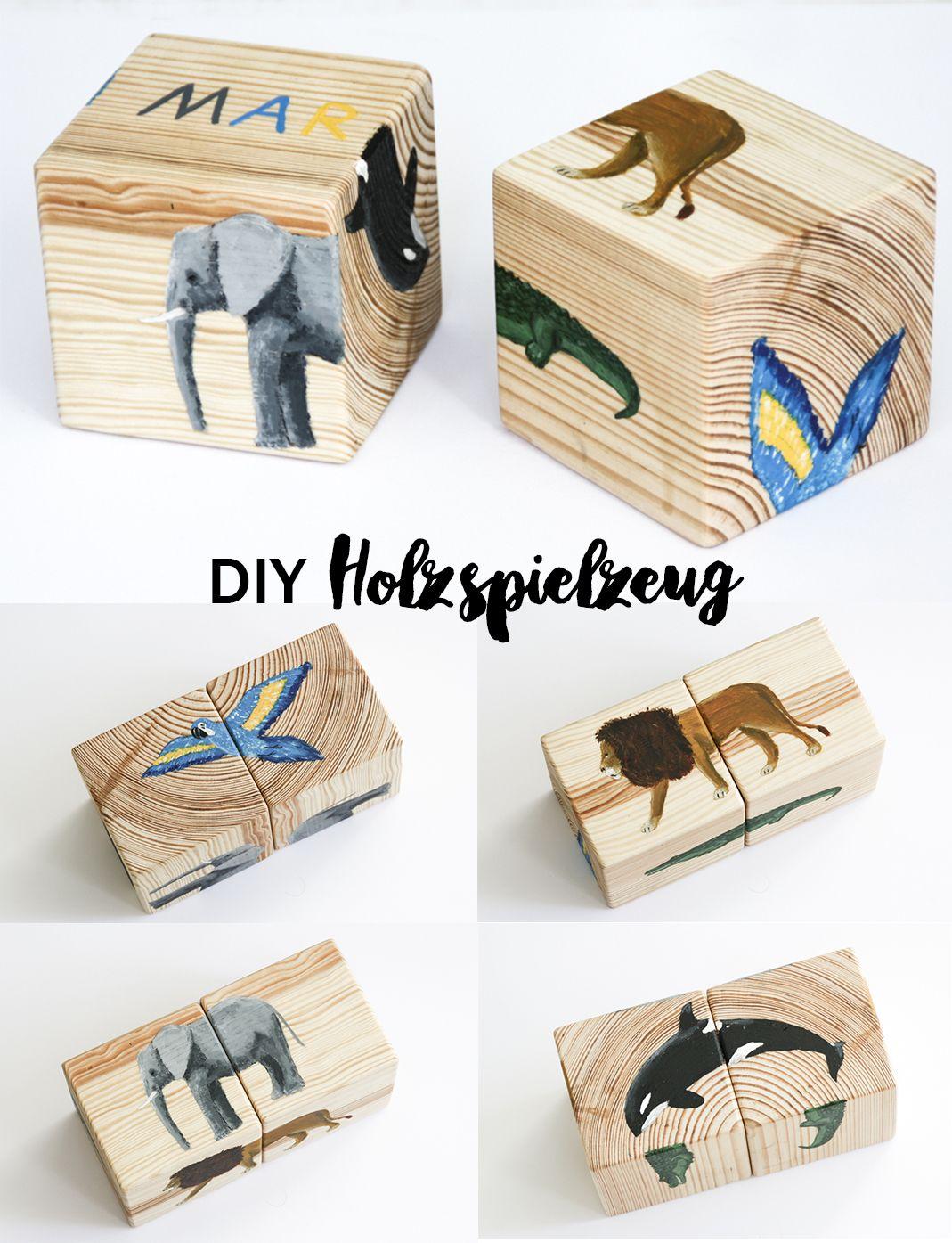 diy holzspielzeug selbstgemacht puzzles f r kinder holzw rfel und selber machen anleitungen. Black Bedroom Furniture Sets. Home Design Ideas