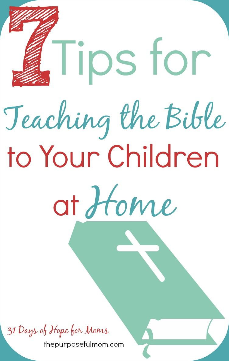 When You Don\'t Know How to Start Teaching the Bible to Your Kids {31 ...