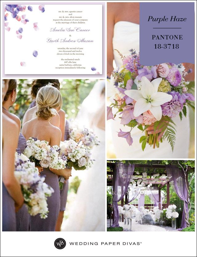 Pantone Purple Haze Inspiration Board Wedding Paper DivasPurple
