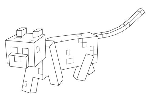 Minecraft Ocelot Coloring Page Minecraft Coloring Pages Minecraft Cat Cat Coloring Page