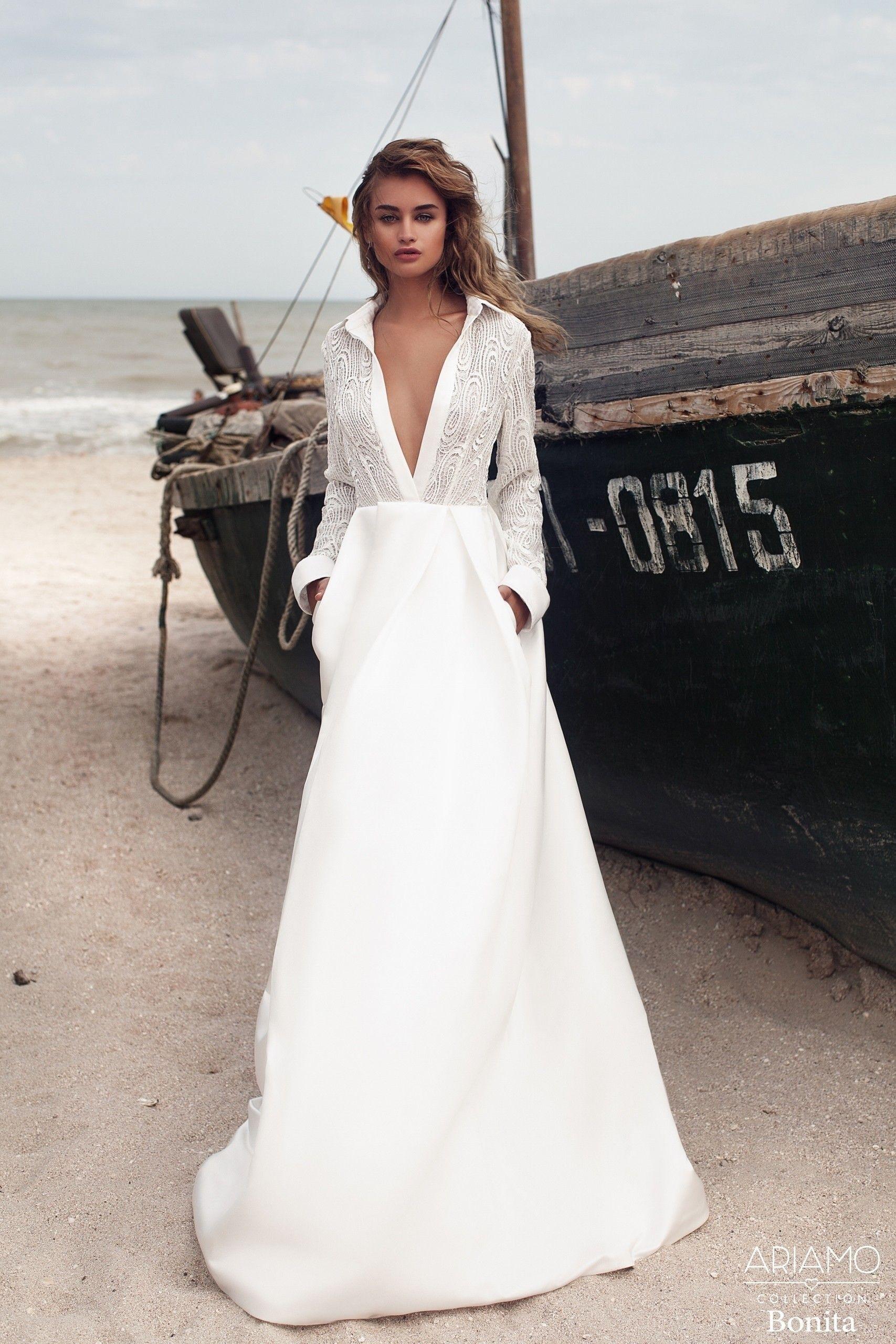 Свадебное платье с запахом фото