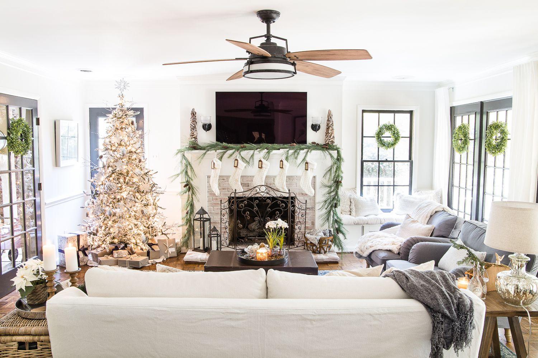 Seasonal Simplicity Christmas Living Room | Christmas living rooms ...