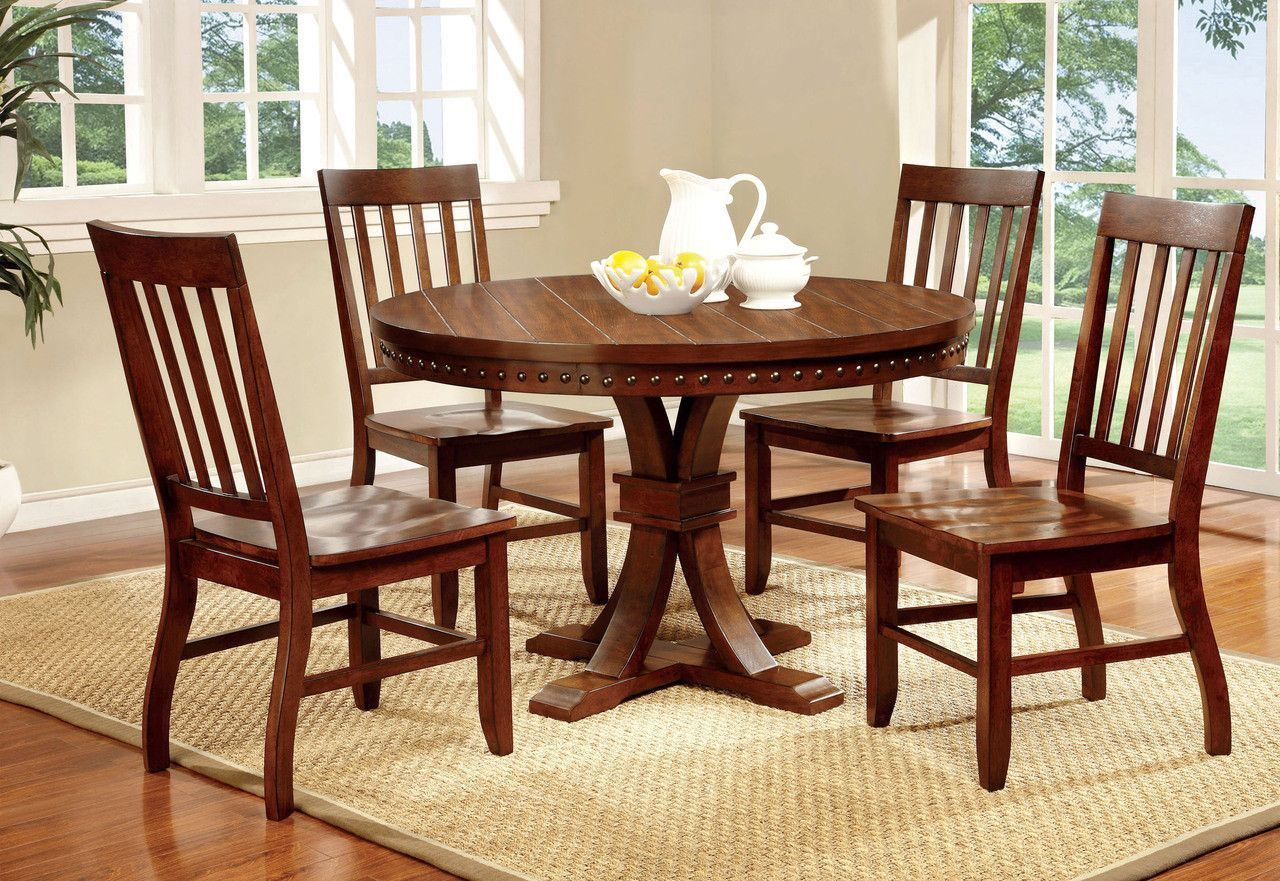 Dining Table With 4 Chairs 5pc Set Foster I Collection Cm3437rt
