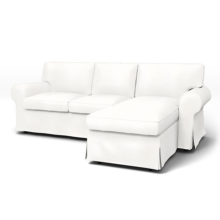 Ektorp 2 Seater Sofa With Chaise Longue Cover With Piping