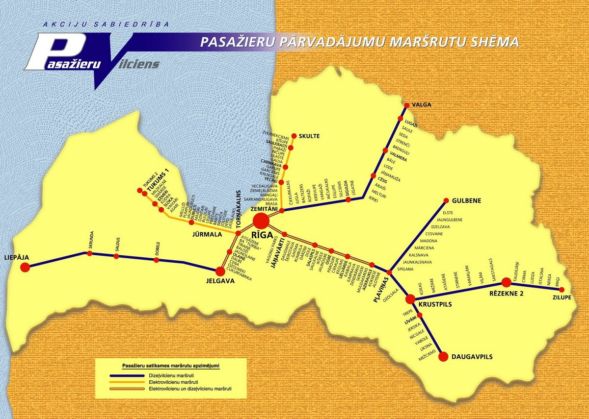 Mapa Kolei Lotewskich Latvia Railway Map With Images Map Map