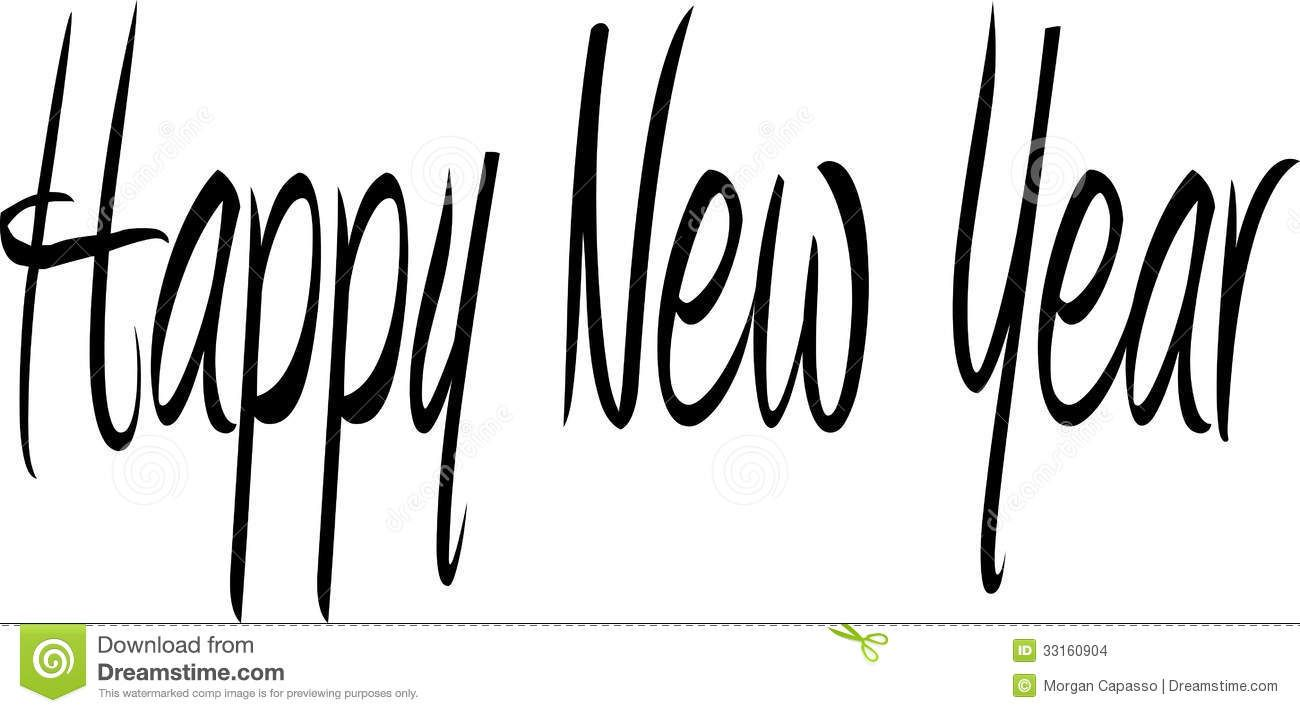 Viewing Gallery For Happy New Year Clip Art Black And White Happy New Year Download New Year Words Happy New