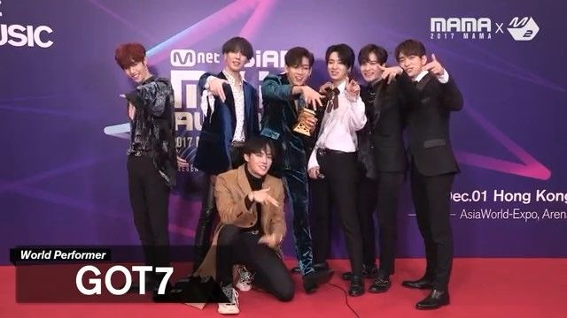 171202 2017MAMA X M2 GOT7 at Thank You Stage #GOT7 ...