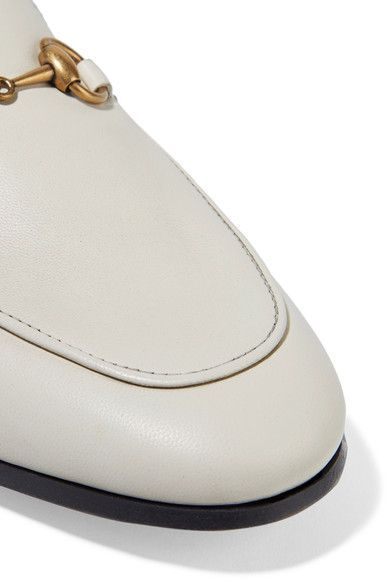 e62f28242b2 Gucci - Horsebit-detailed Collapsible-heel Leather Loafers - Off-white