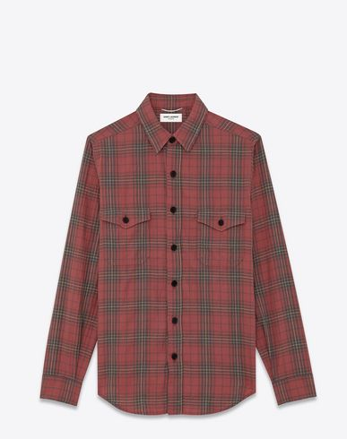Plaid cotton shirt Saint Laurent Wholesale Price For Sale Free Shipping Great Deals Clearance Latest Cheap Sale Looking For Sale Reliable 2am6WY
