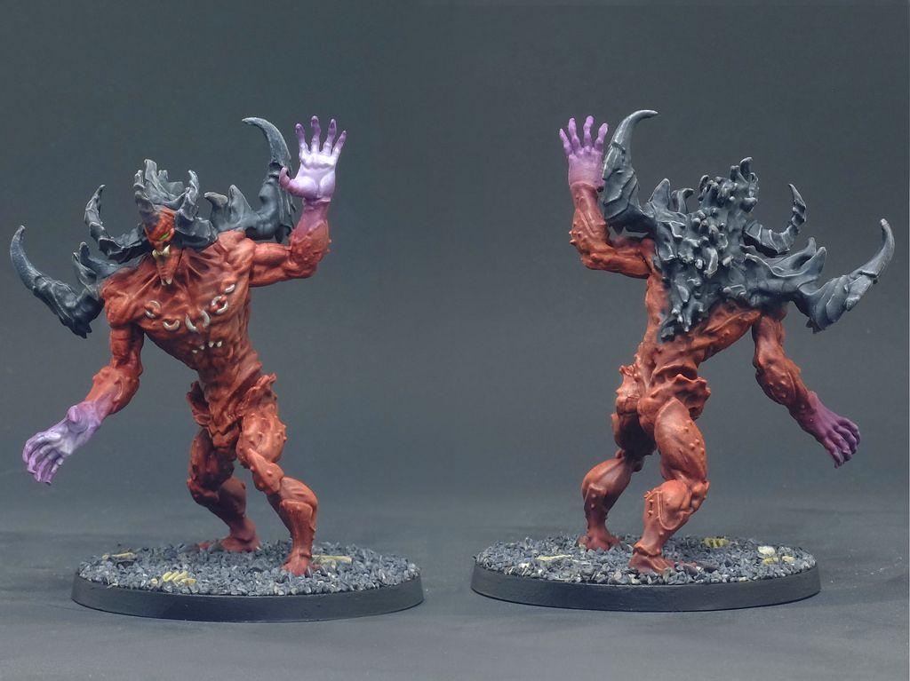 Massive Darkness Abyssal Demon Demon Figure Painter Purple Hands