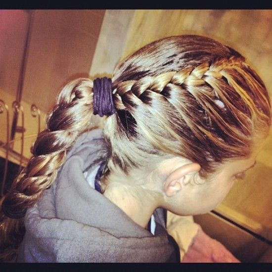 braid into ponytail | Braided Hairstyles | Pinterest ...