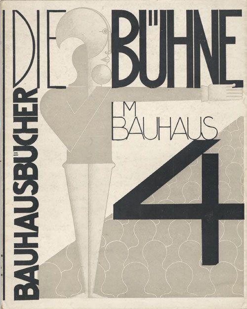 rosswolfe:  Oskar Schlemmer, Die Bühne im Bauhaus. Bd. 4, München 1925. via Bauhausbücher covers, № I-XIV (1925-1930)