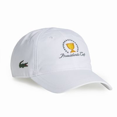 223aa5321 LACOSTE POLYESTER HAT at The Presidents Cup in WHITE, NAVY BLUE, RED ...