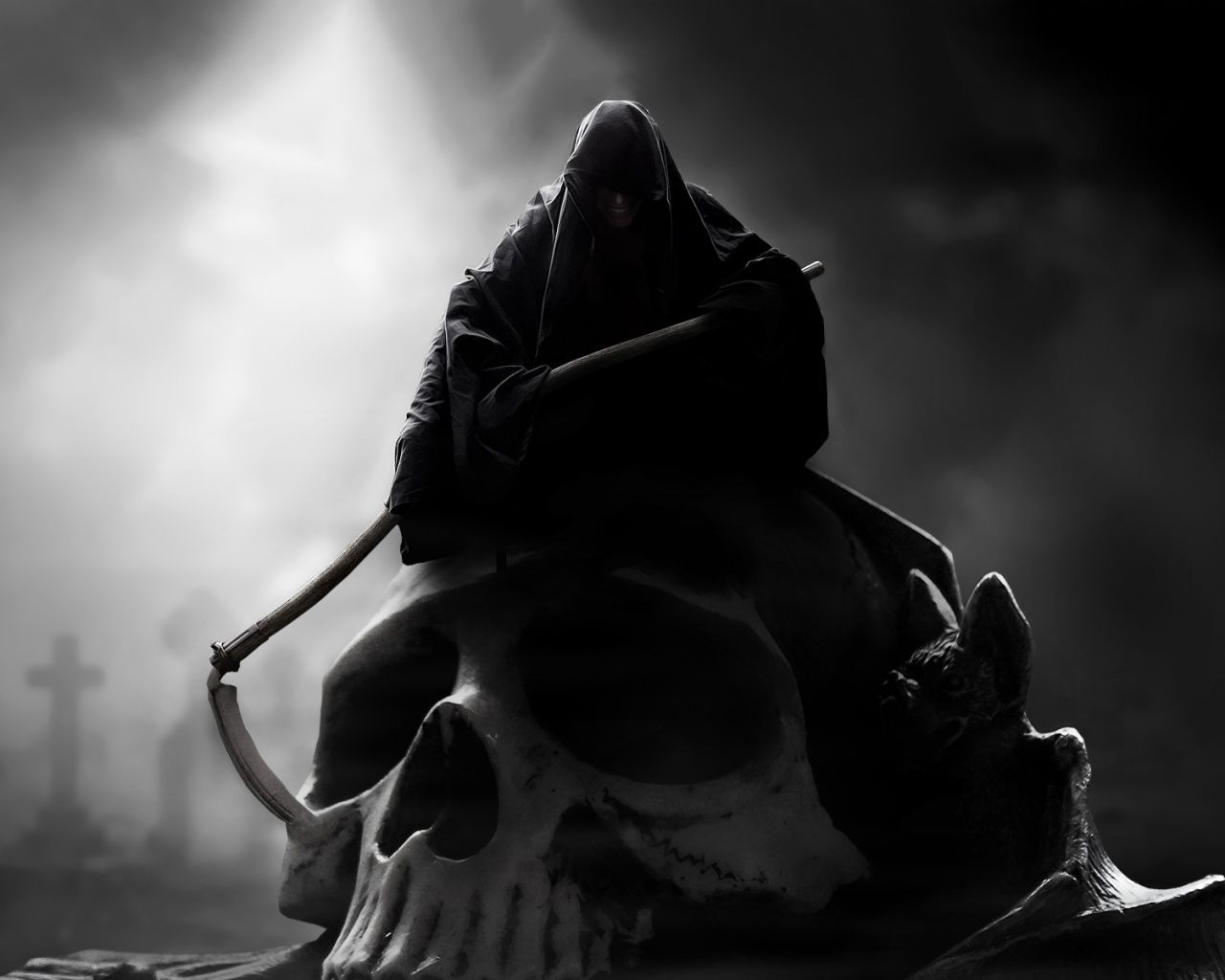 Reaper skull Grim reaper images, Dark reaper, Grim reaper