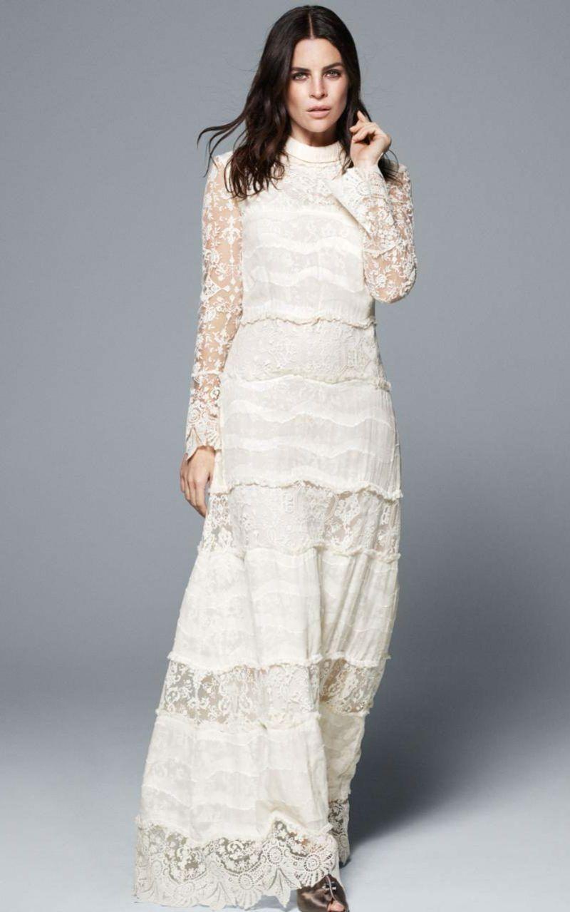 Brautkleid im Vintage Style langes Kleid für Standesamt   Wedding ...