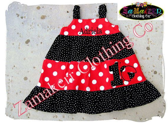 Girl Ladybug Dress Infant Toddler Birthday Party Lady Bug Spring Clothing Size 3 6 9 12 18 24 month 2t 2 3t 4 4t 5T 5 6 7 8 Red Black