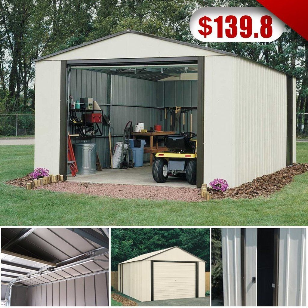 12 X 31 Vinyl Coated White Garage Building a shed