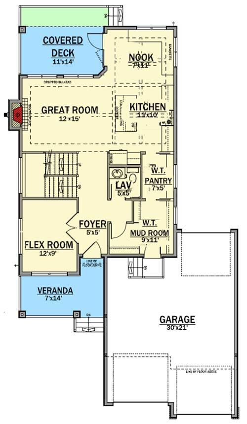 Plan 81675ab Northwest House Plan With Flex Space In 2020 House Plans Architectural Design House Plans Lake House Plans