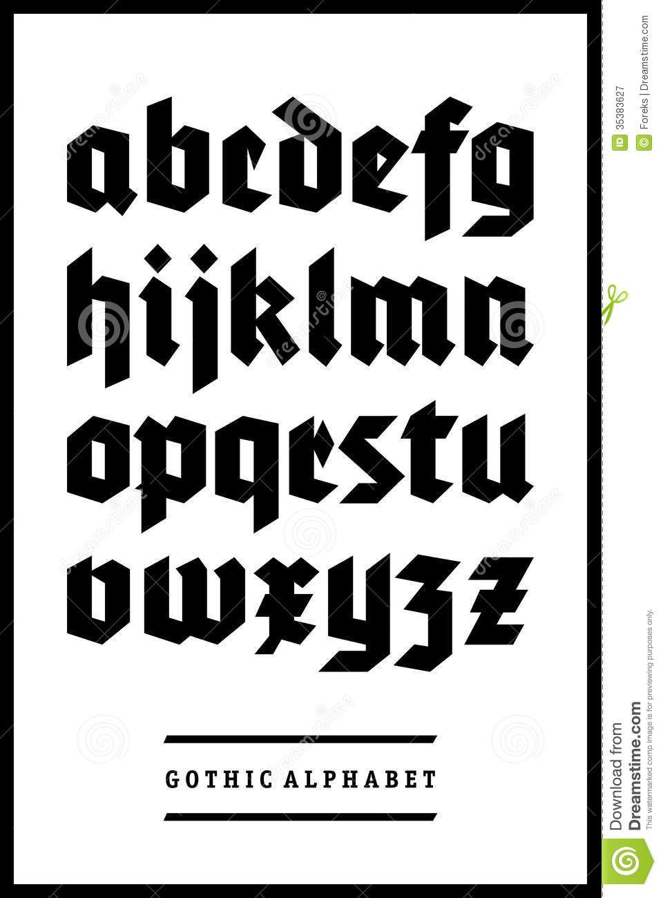 German Gothic Font