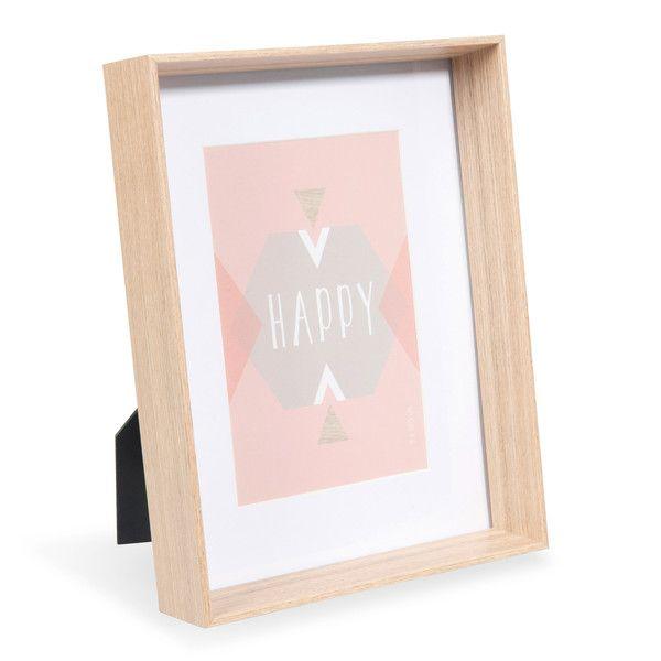 Cadre photo en bois 16 x 21 cm ELIN | Objet deco | Pinterest