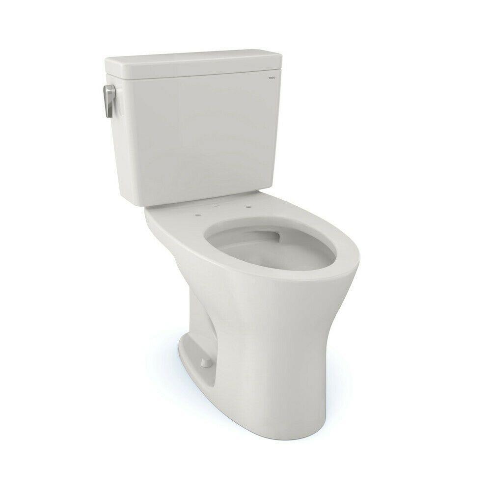 Toto Cst746csmg 11 2 Pc Drake Elongated 1 6 8 Gpf Toilet Colonial White New In 2020 Toto Toilet Toto New Toilet