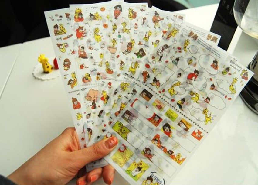 Dettagli su 6 sheet I and giraffe notebook album calendar deco