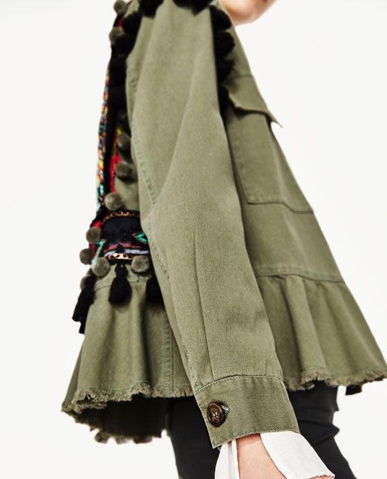 13ccc5b66a2 Image 6 of PARKA WITH EMBROIDERY AND POMPOMS from Zara | style in ...